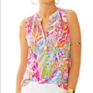 Lilly Pulitzer Essie top Scuba to Cuba S